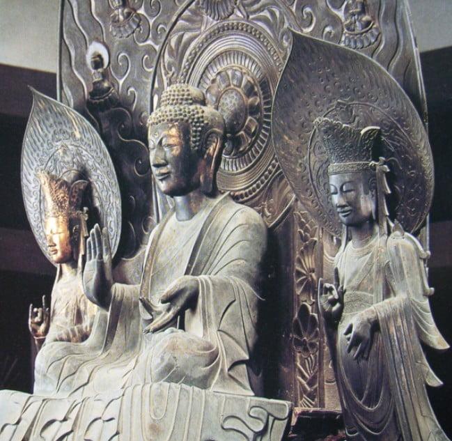 釈迦三尊坐像(国宝)