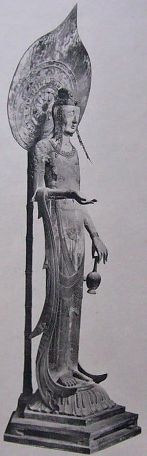 法隆寺・大宝蔵院観音堂「百済観音像(木造観音菩薩立像)」【国宝】