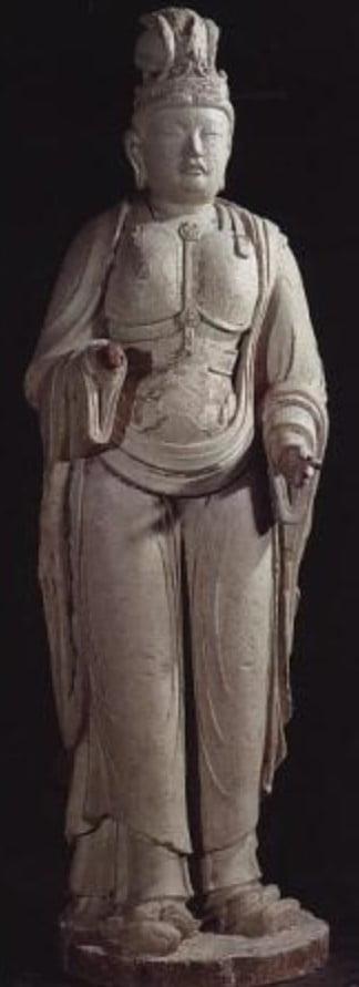 法隆寺(旧食堂/大宝蔵院)・梵天像/帝釈天像【重要文化財】