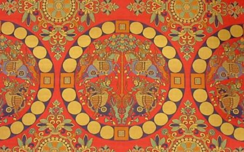 法隆寺と古代ペルシア・ゾロアスター教との接点【その4】「四騎獅子狩紋錦」