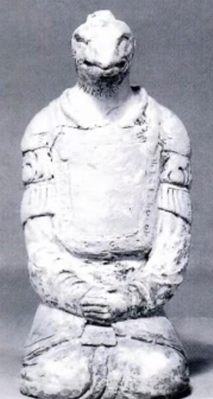 奈良・法隆寺の謎の塑像は爬虫類人?
