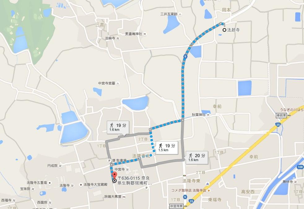 奈良・法起寺の場所