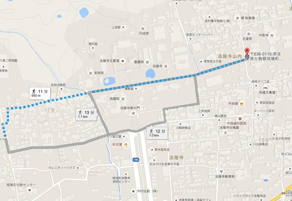 奈良県・藤ノ木古墳の場所