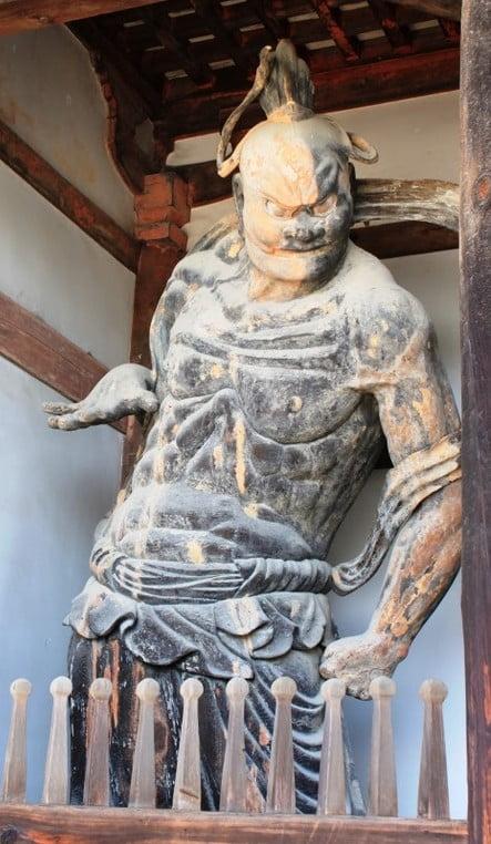 法隆寺・金剛力士像「吽形(うんぎょう)」【重要文化財】