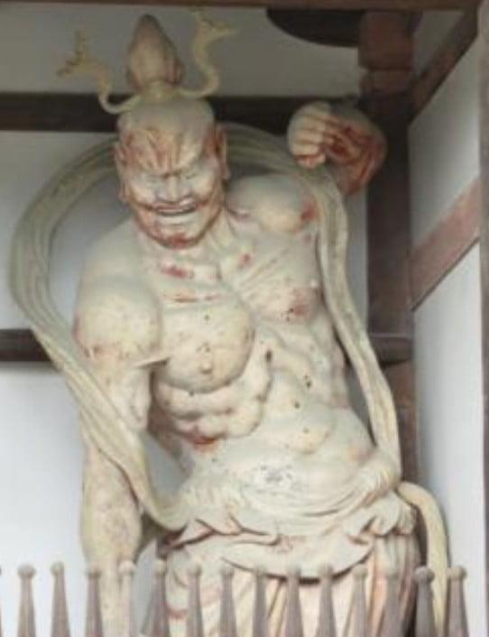 法隆寺・金剛力士像「阿形(あぎょう)」【重要文化財】
