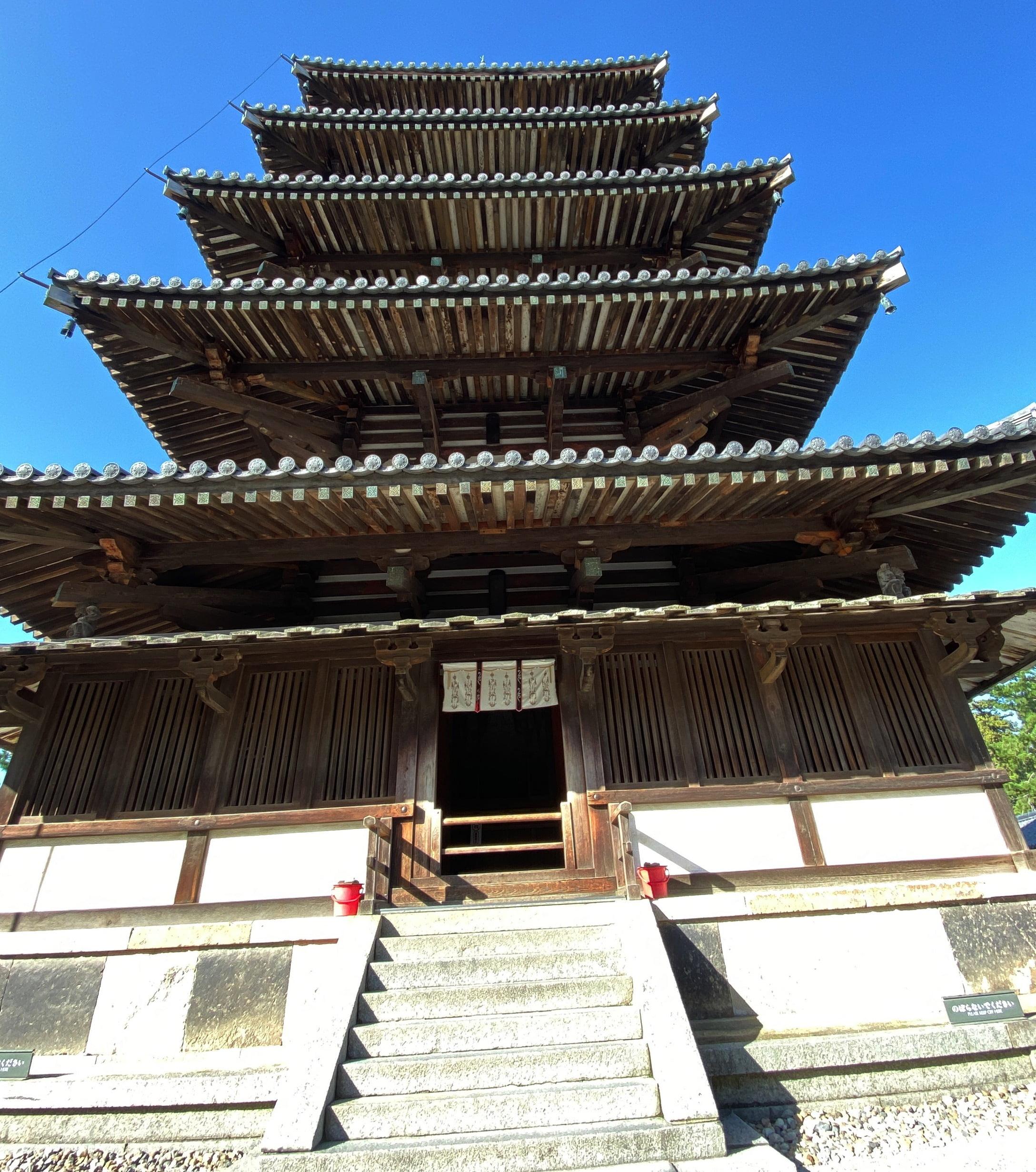 奈良・法隆寺の五重塔の歴史と構造(建築様式と作り方)